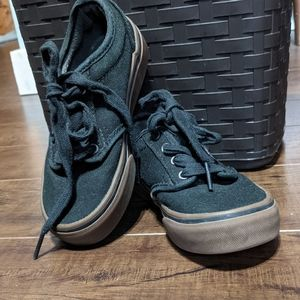 Kids Vans, black size 11 with brown outer sole GUC